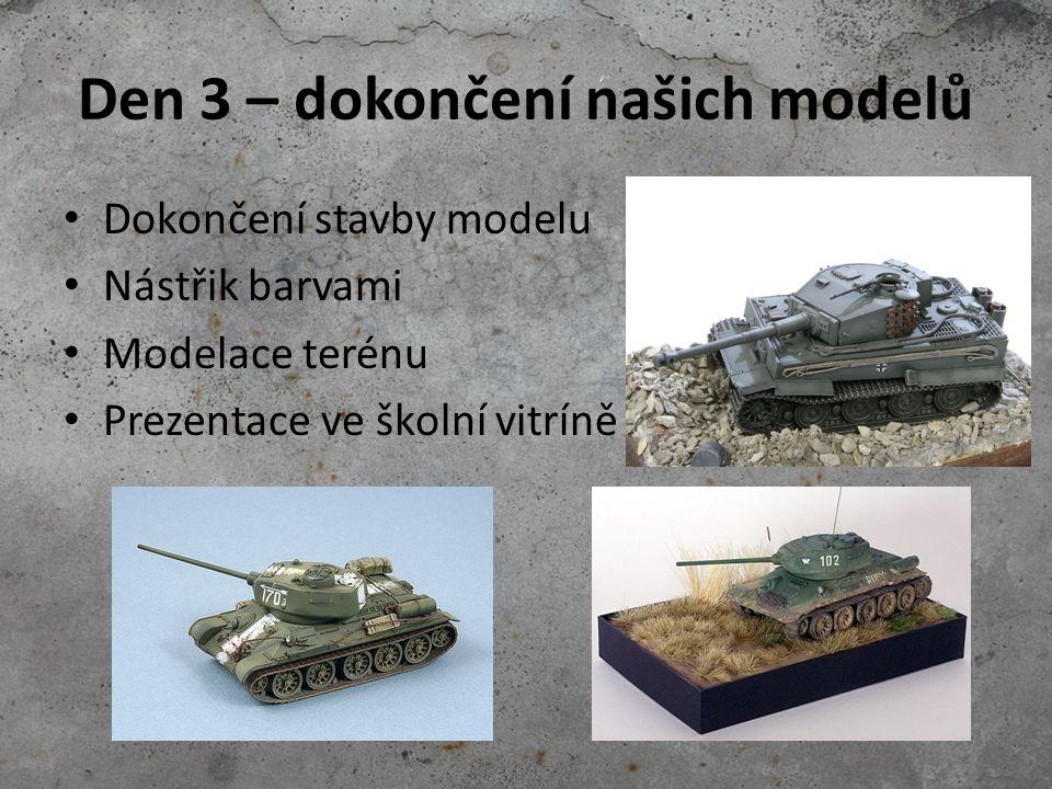 Den 3 – dokončení našich modelů