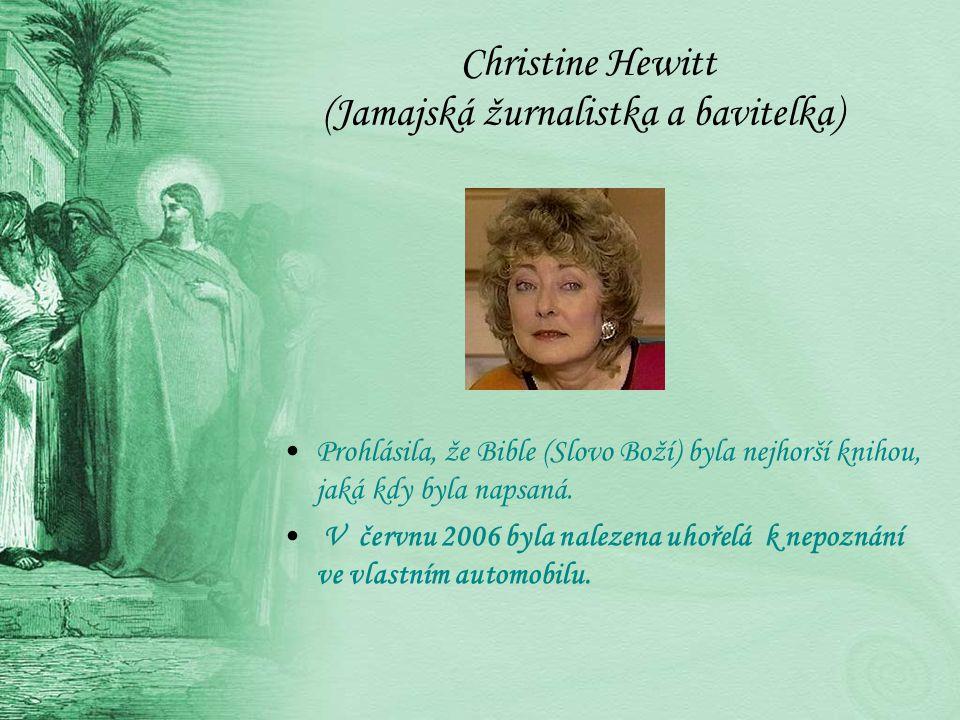 Christine Hewitt (Jamajská žurnalistka a bavitelka)