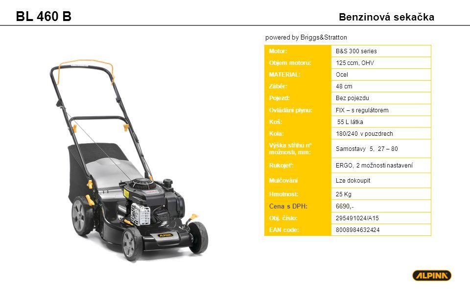 BL 460 B Benzinová sekačka powered by Briggs&Stratton Cena s DPH: