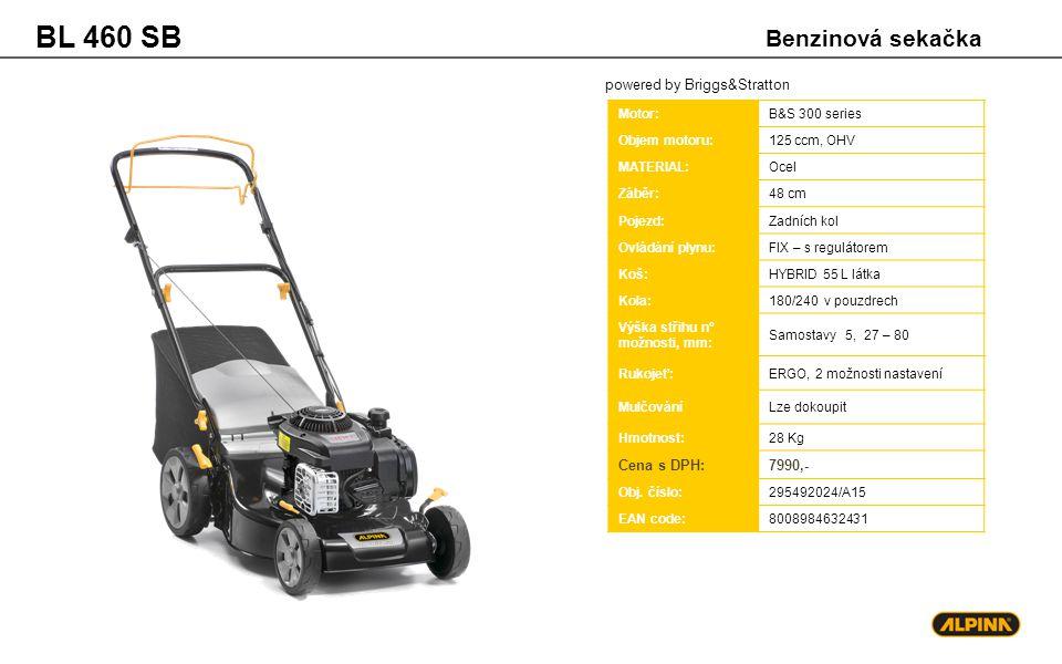 BL 460 SB Benzinová sekačka powered by Briggs&Stratton Cena s DPH: