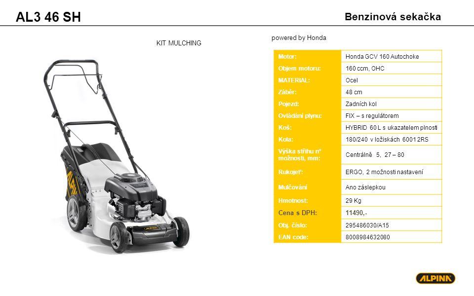 AL3 46 SH Benzinová sekačka powered by Honda KIT MULCHING Cena s DPH: