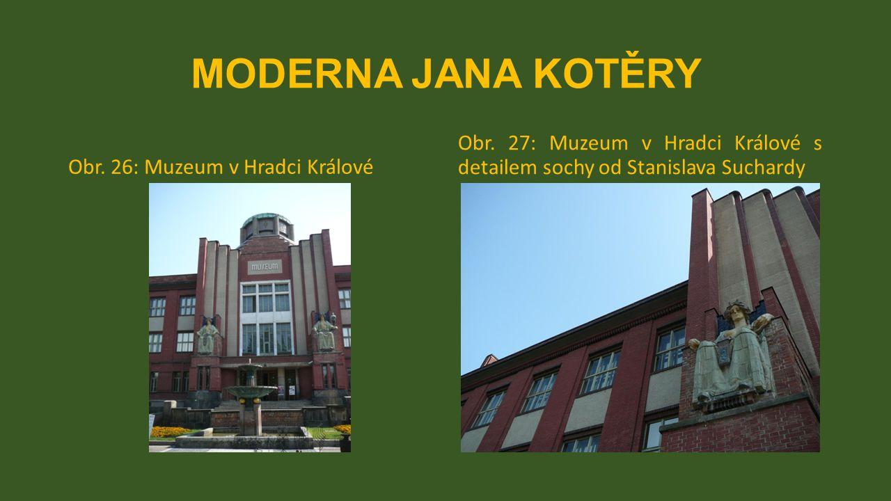 MODERNA JANA KOTĚRY Obr. 26: Muzeum v Hradci Králové.