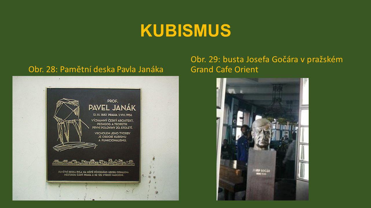 KUBISMUS Obr. 29: busta Josefa Gočára v pražském Grand Cafe Orient