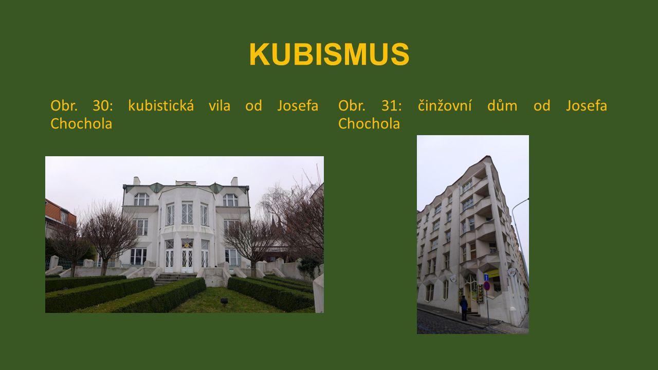 KUBISMUS Obr. 30: kubistická vila od Josefa Chochola