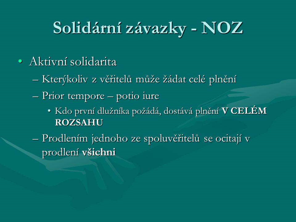 Solidární závazky - NOZ