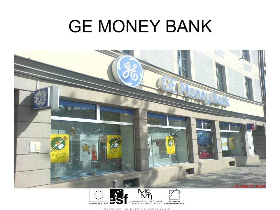 GE MONEY BANK Jaký je rozdíl mezi centrální bankou a komerčními bankami Kde sídlí centrální banka