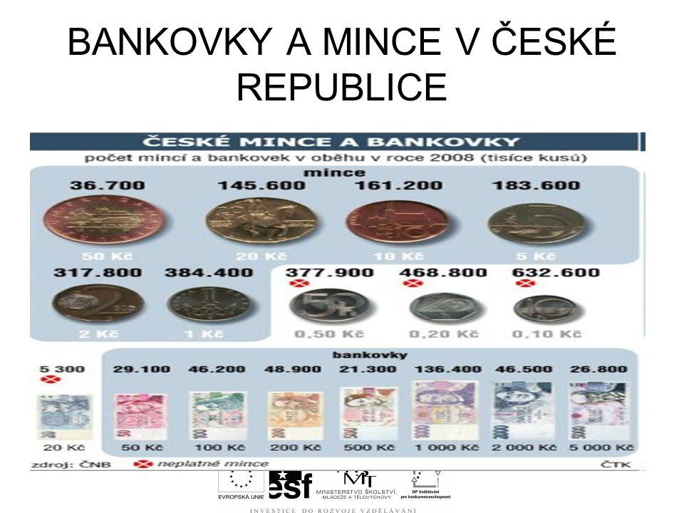 BANKOVKY A MINCE V ČESKÉ REPUBLICE