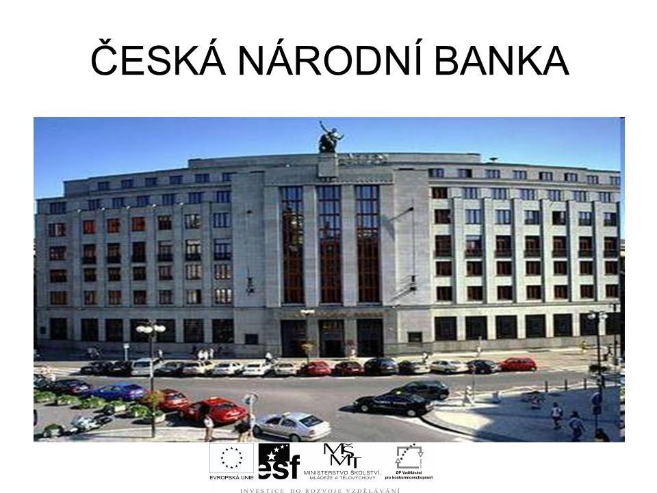 ČESKÁ NÁRODNÍ BANKA Které banky patří do druhého stupně bankovní soustavy