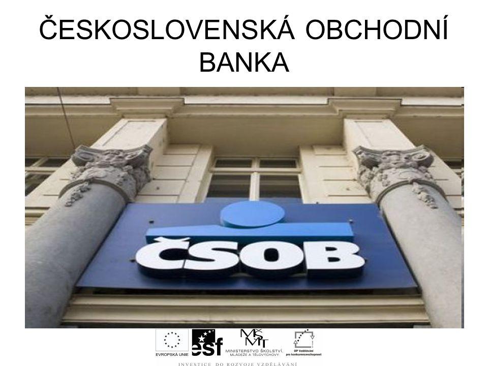 ČESKOSLOVENSKÁ OBCHODNÍ BANKA