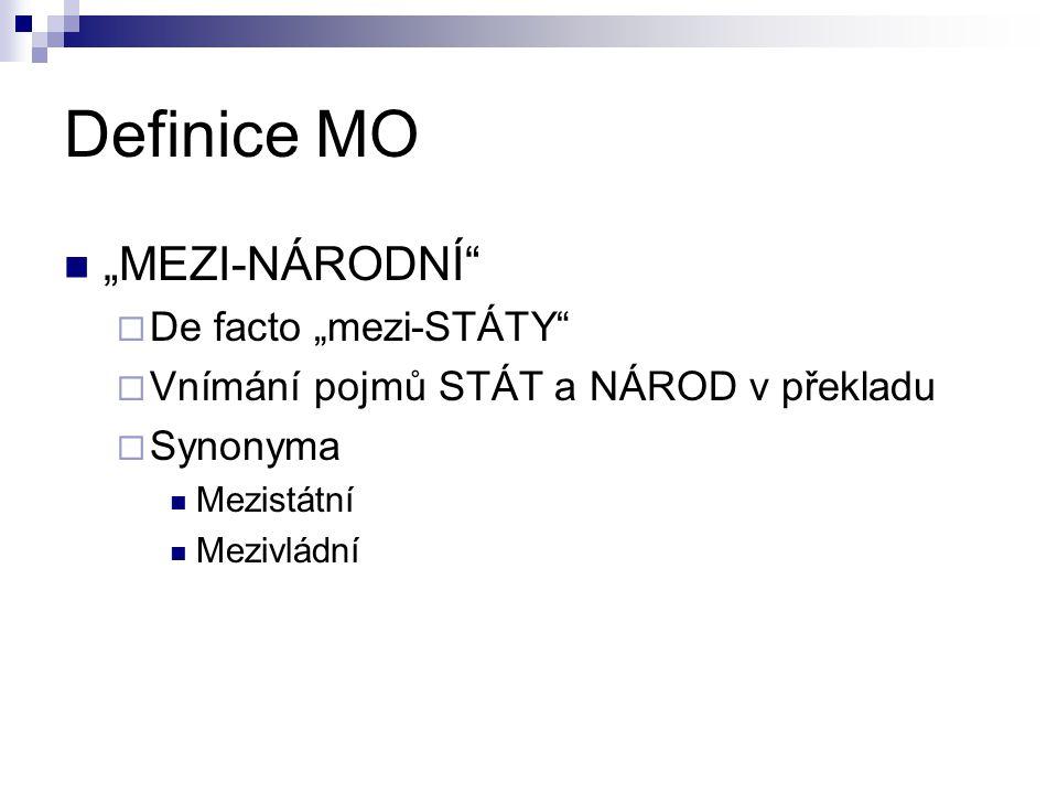 """Definice MO """"MEZI-NÁRODNÍ De facto """"mezi-STÁTY"""