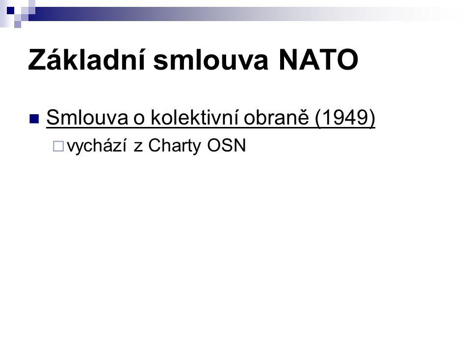 Základní smlouva NATO Smlouva o kolektivní obraně (1949)