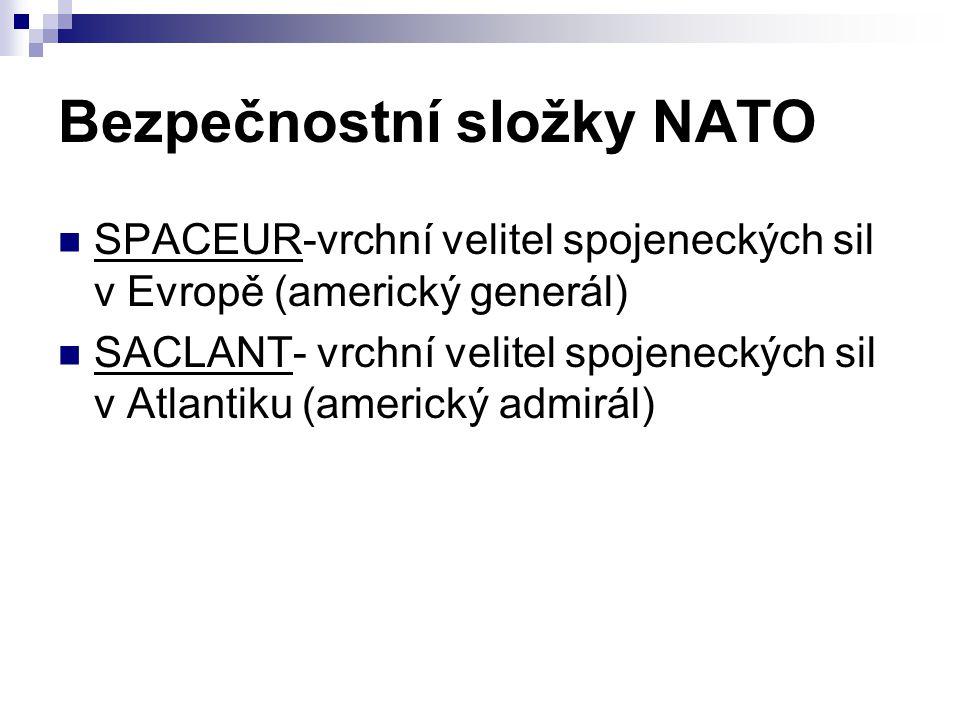 Bezpečnostní složky NATO