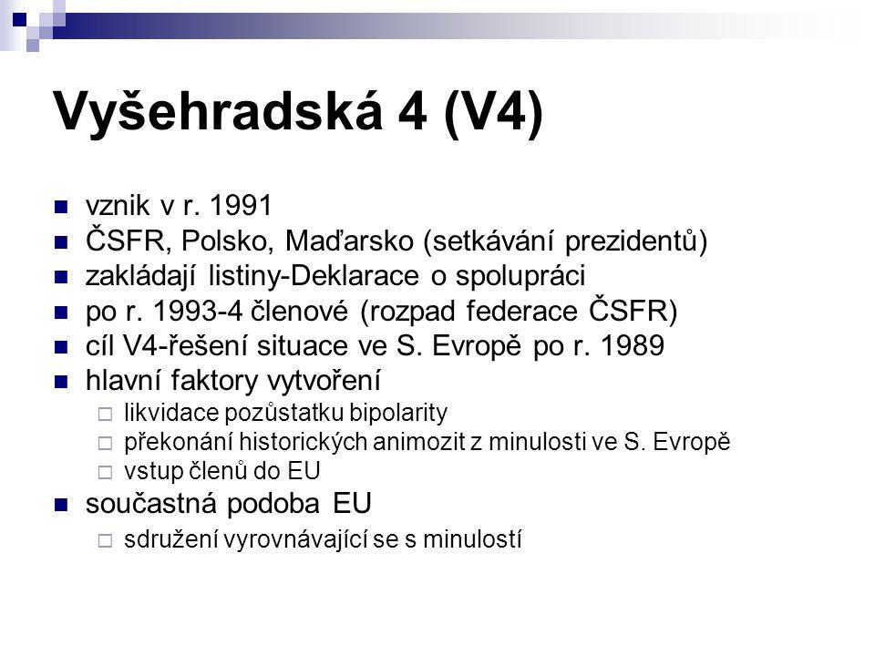 Vyšehradská 4 (V4) vznik v r. 1991