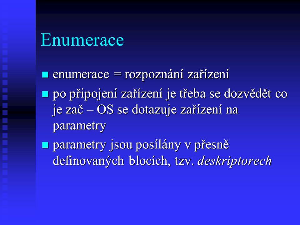 Enumerace enumerace = rozpoznání zařízení