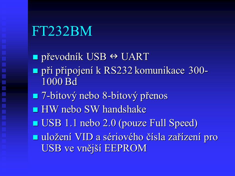 FT232BM převodník USB  UART