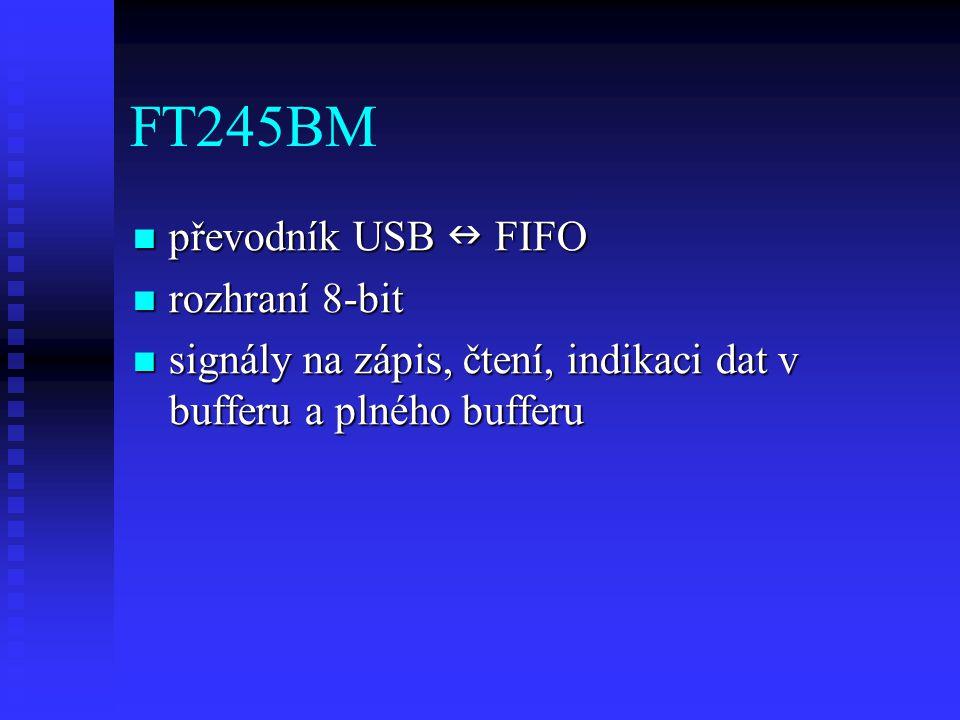 FT245BM převodník USB  FIFO rozhraní 8-bit
