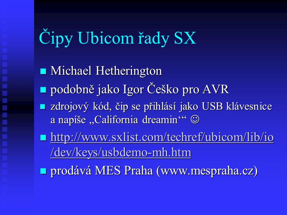 Čipy Ubicom řady SX Michael Hetherington