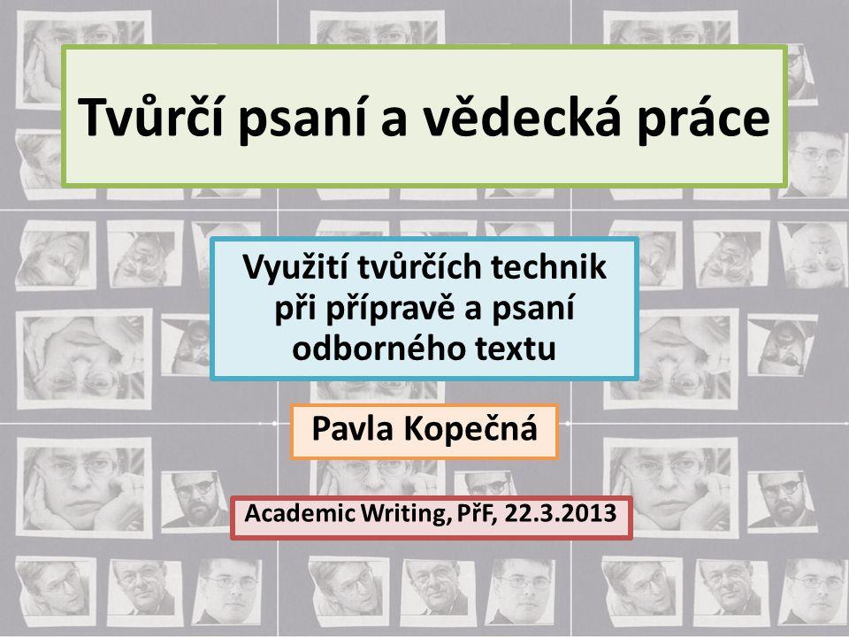 Tvůrčí psaní a vědecká práce