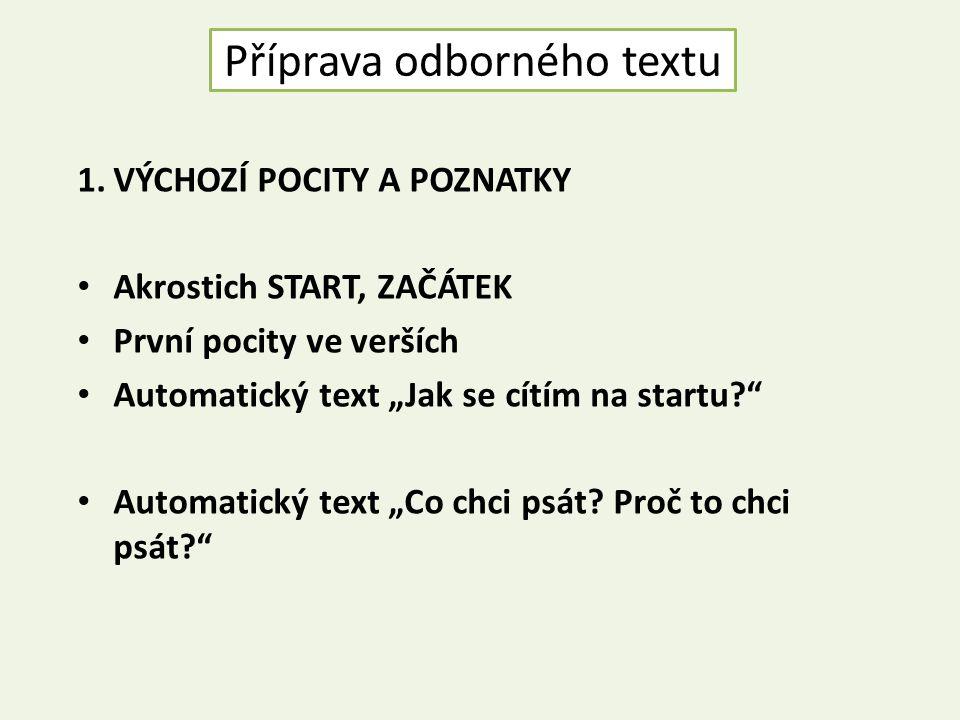 Příprava odborného textu