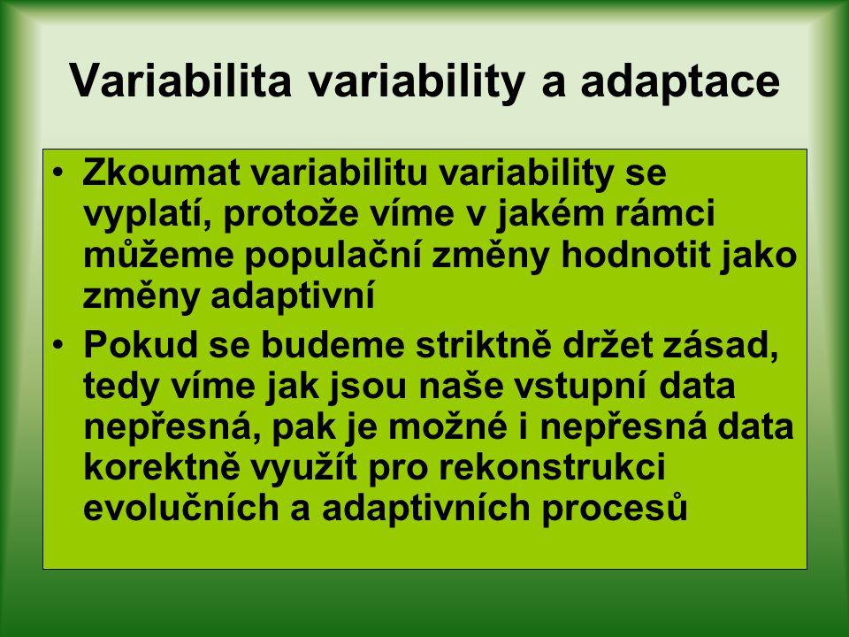 Variabilita variability a adaptace