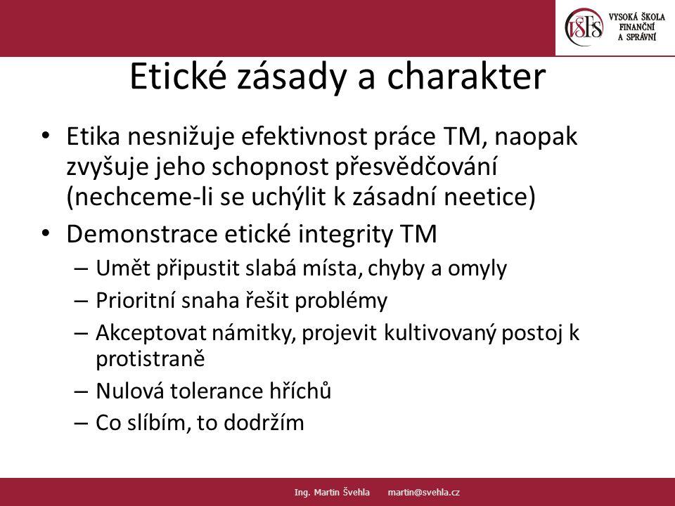Etické zásady a charakter