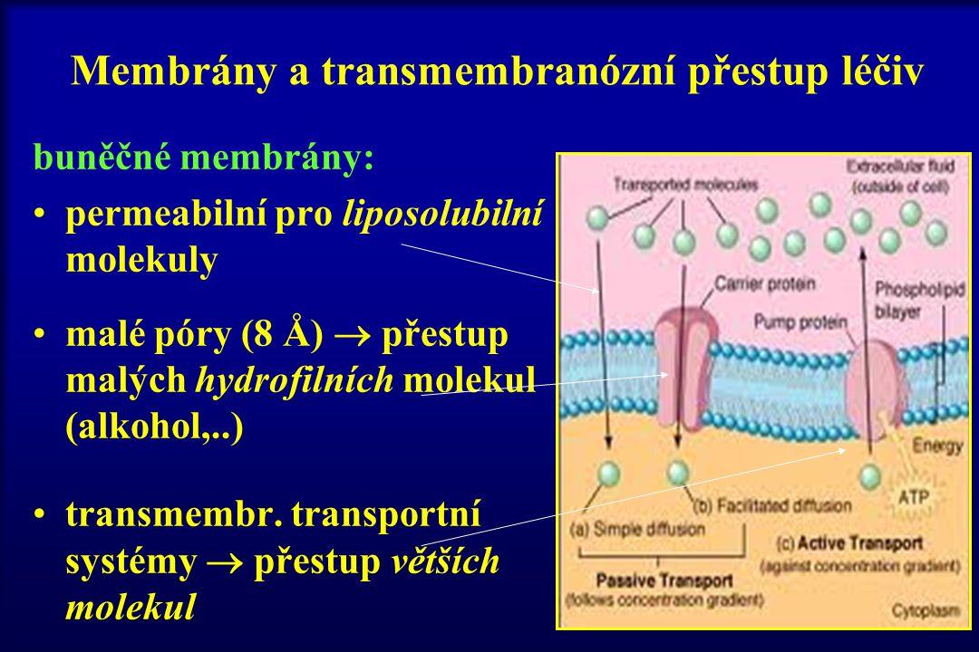 Membrány a transmembranózní přestup léčiv