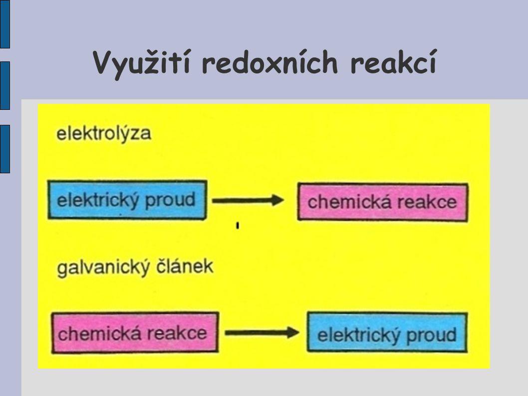Využití redoxních reakcí