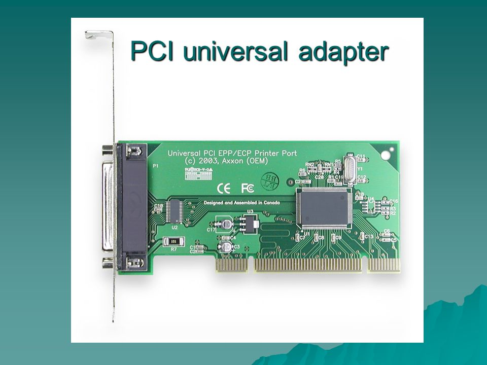 PCI universal adapter