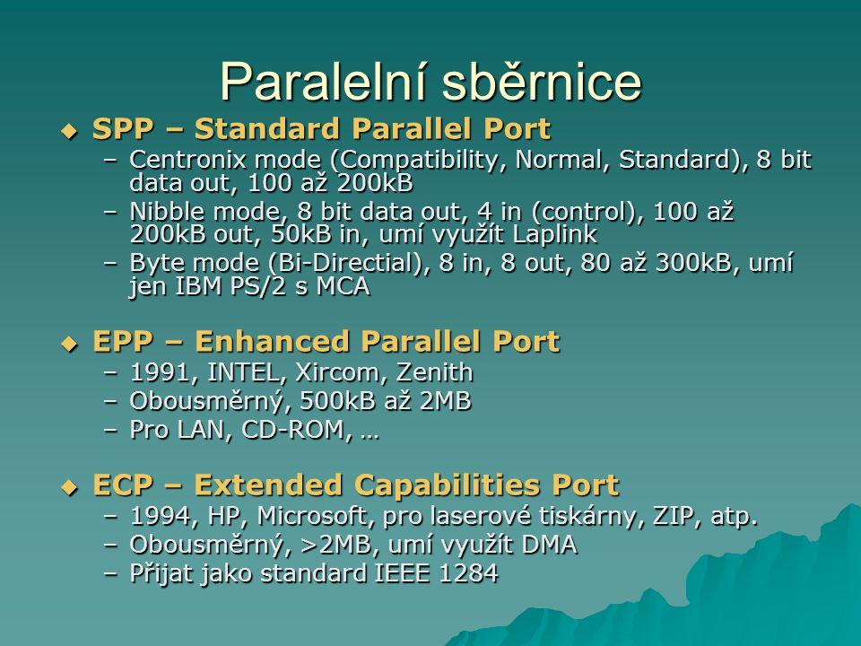Paralelní sběrnice SPP – Standard Parallel Port