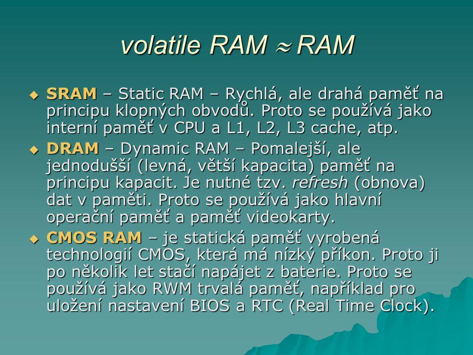 volatile RAM  RAM