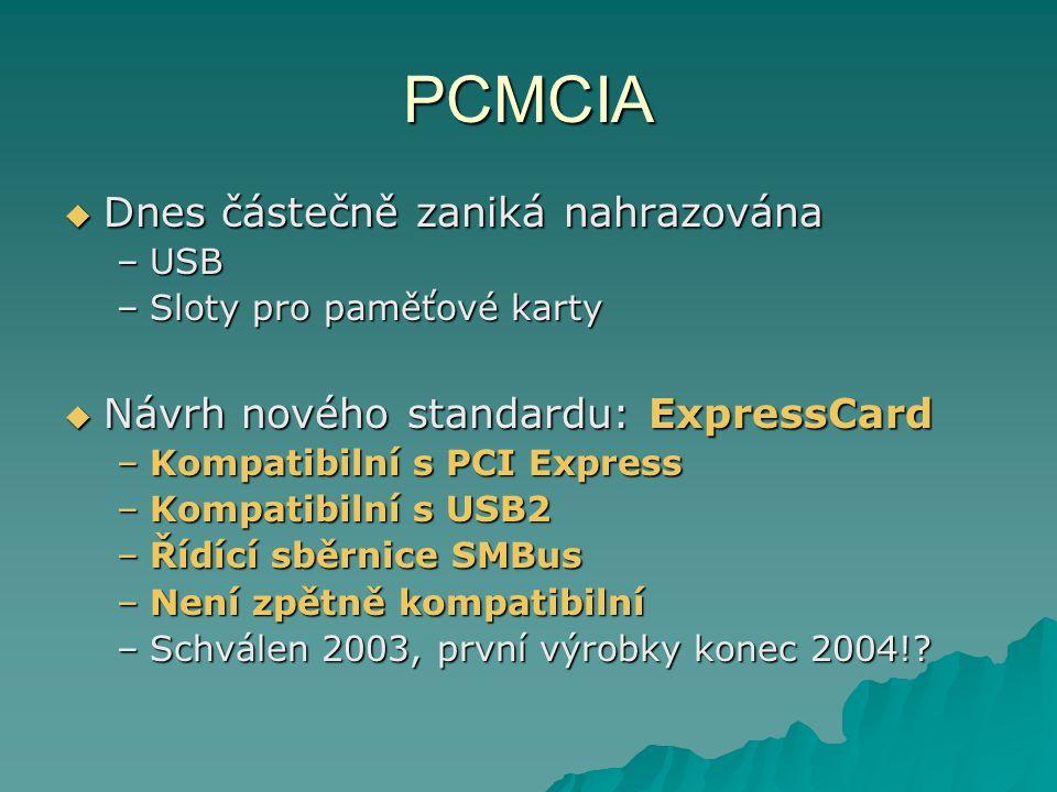 PCMCIA Dnes částečně zaniká nahrazována