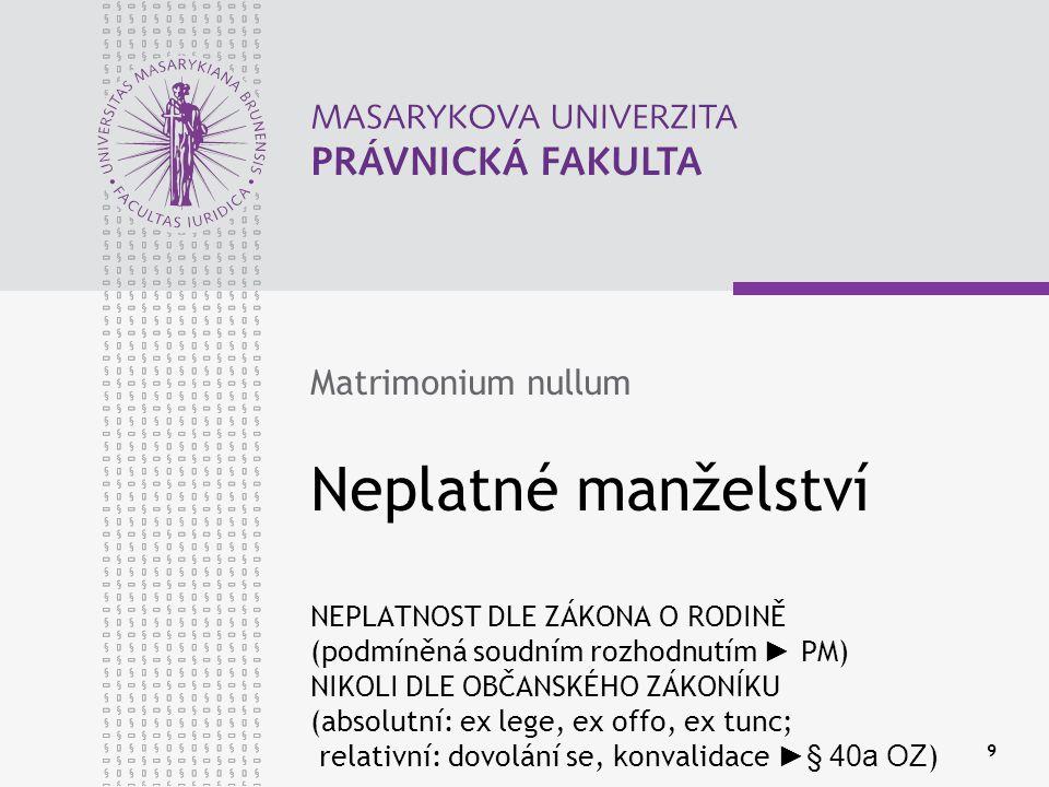 Matrimonium nullum