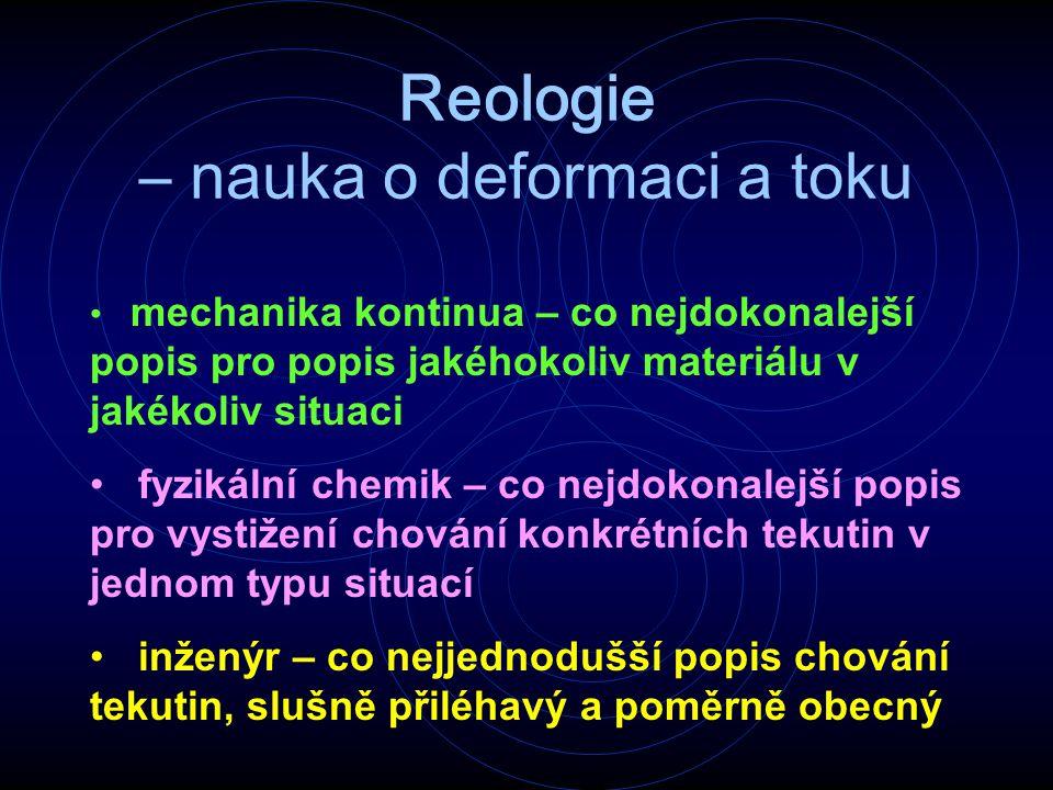 Reologie – nauka o deformaci a toku