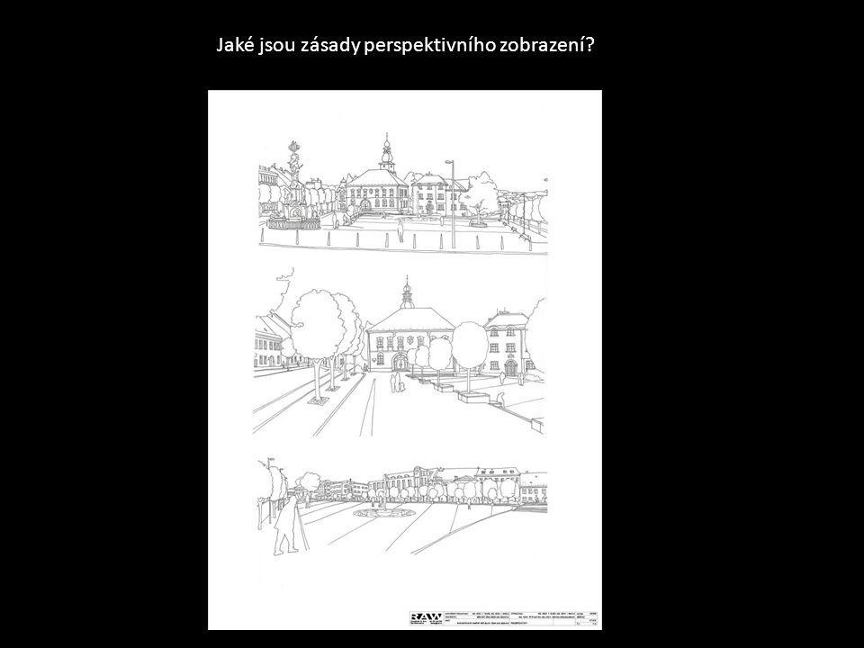 Jaké jsou zásady perspektivního zobrazení