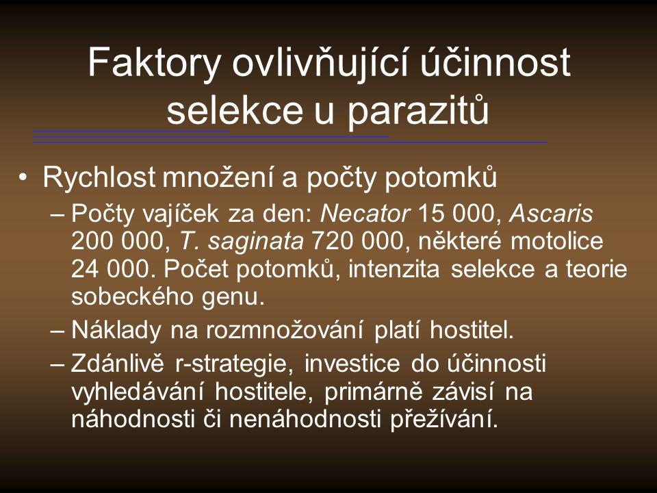 Faktory ovlivňující účinnost selekce u parazitů