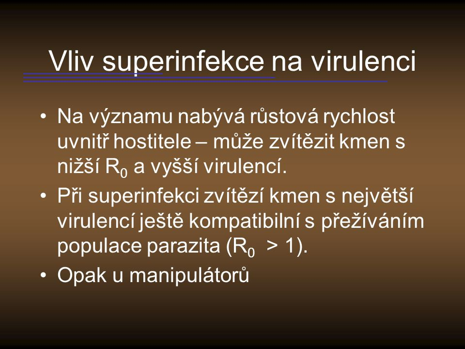 Vliv superinfekce na virulenci