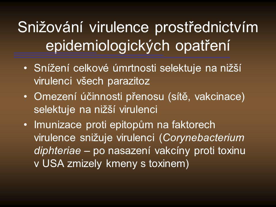 Snižování virulence prostřednictvím epidemiologických opatření