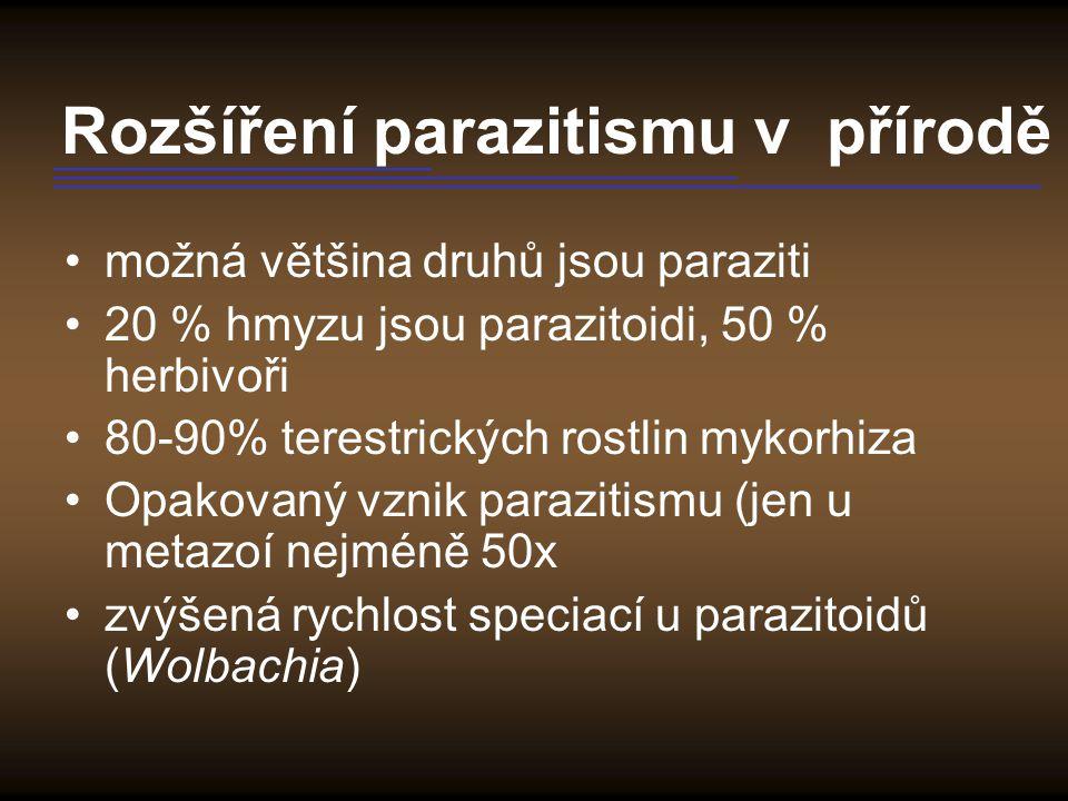 Rozšíření parazitismu v přírodě