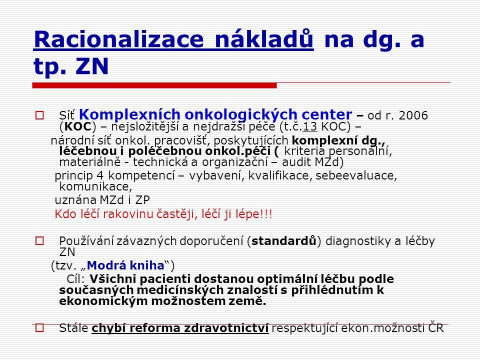 Racionalizace nákladů na dg. a tp. ZN