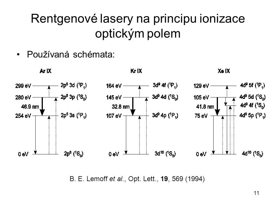 Rentgenové lasery na principu ionizace optickým polem