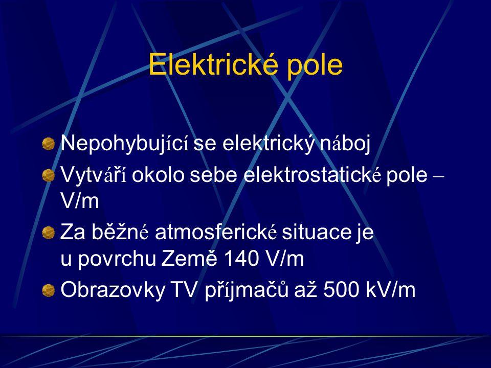 Elektrické pole Nepohybující se elektrický náboj