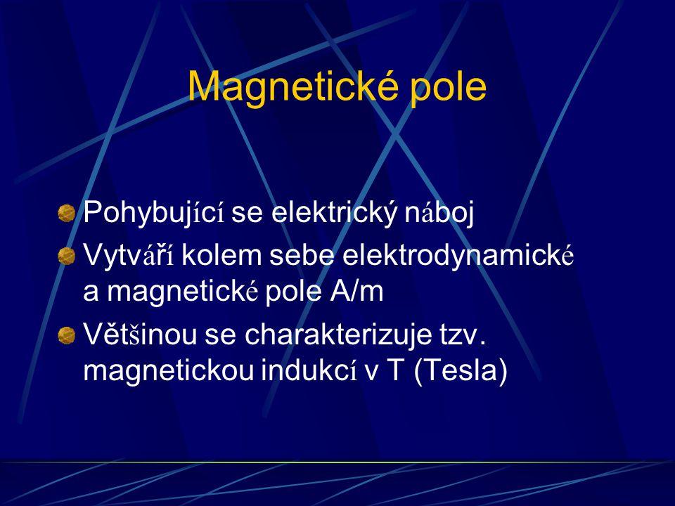 Magnetické pole Pohybující se elektrický náboj