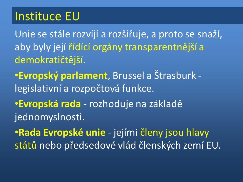Instituce EU Unie se stále rozvíjí a rozšiřuje, a proto se snaží, aby byly její řídící orgány transparentnější a demokratičtější.