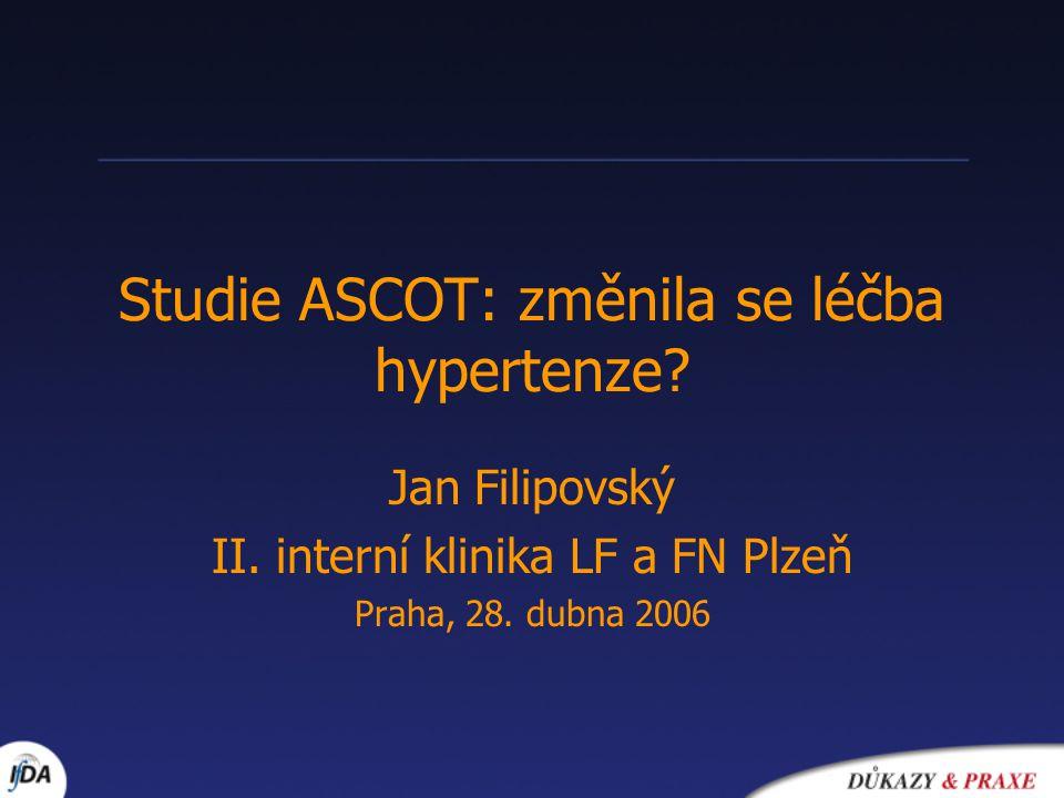 Studie ASCOT: změnila se léčba hypertenze