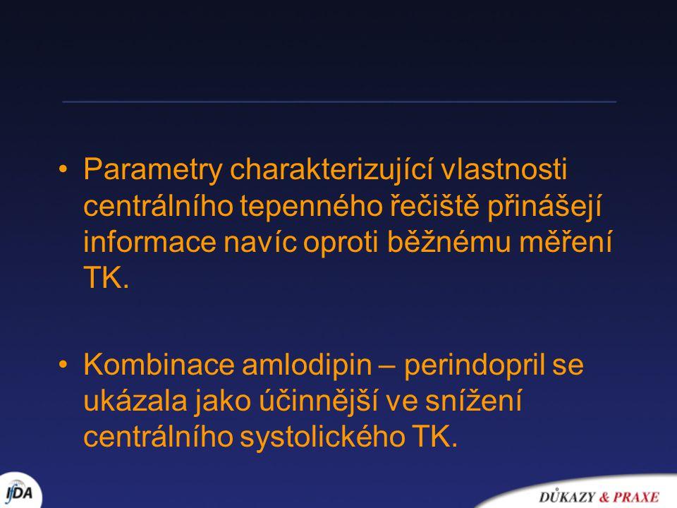 Parametry charakterizující vlastnosti centrálního tepenného řečiště přinášejí informace navíc oproti běžnému měření TK.