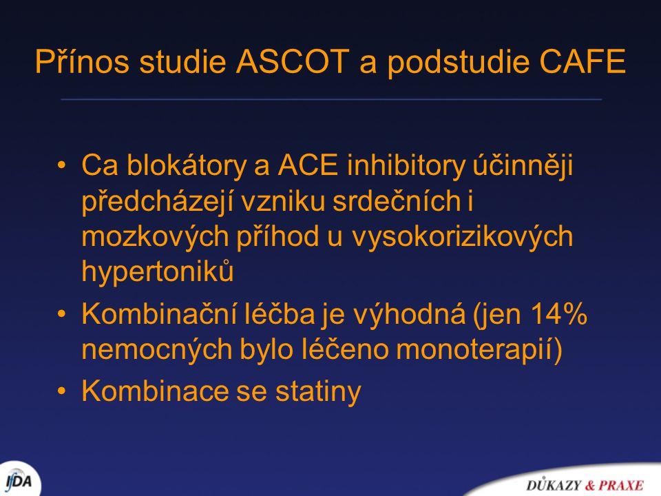 Přínos studie ASCOT a podstudie CAFE
