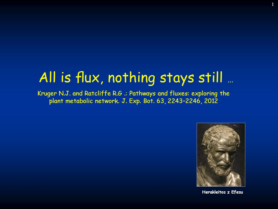 All is flux, nothing stays still …