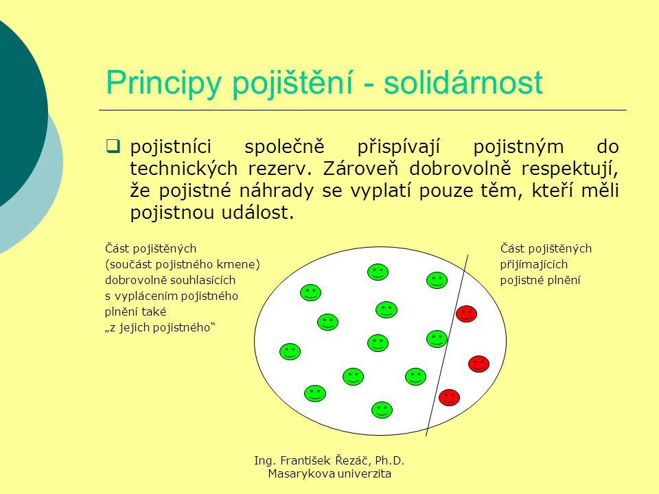 Principy pojištění - solidárnost