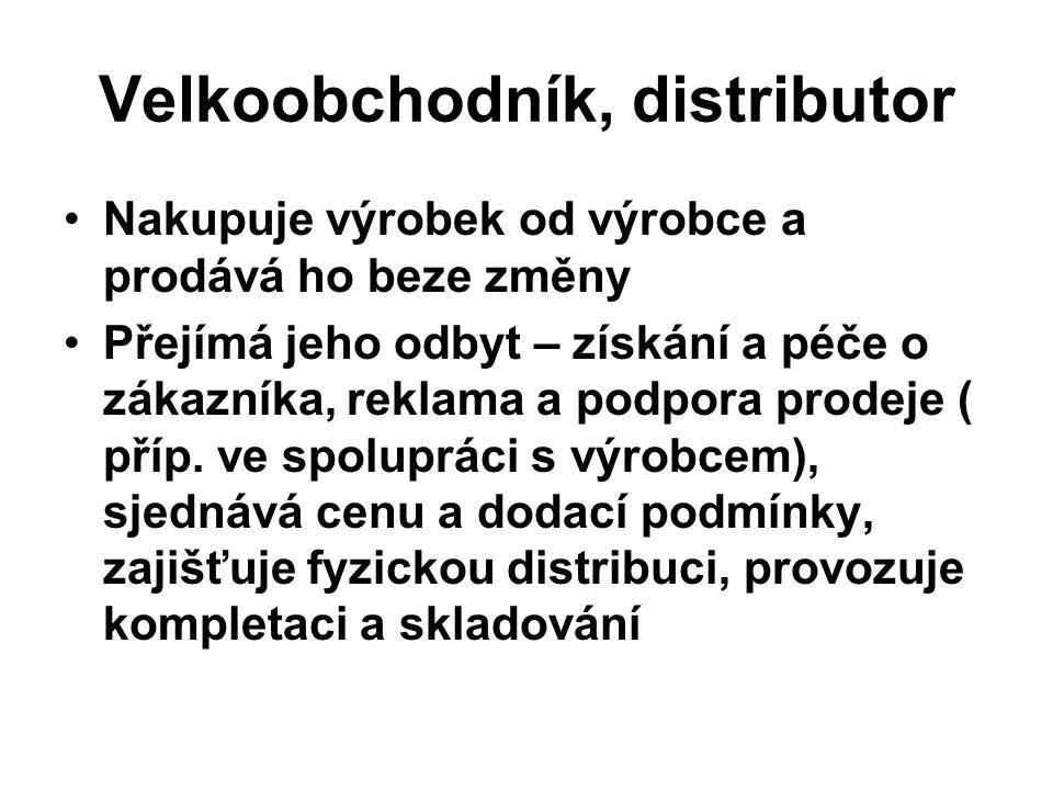 Velkoobchodník, distributor