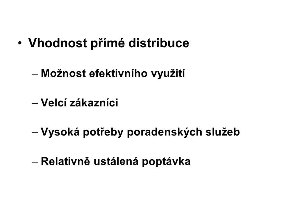 Vhodnost přímé distribuce